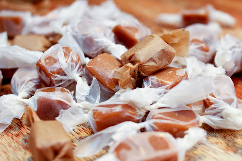 wrapped caramels