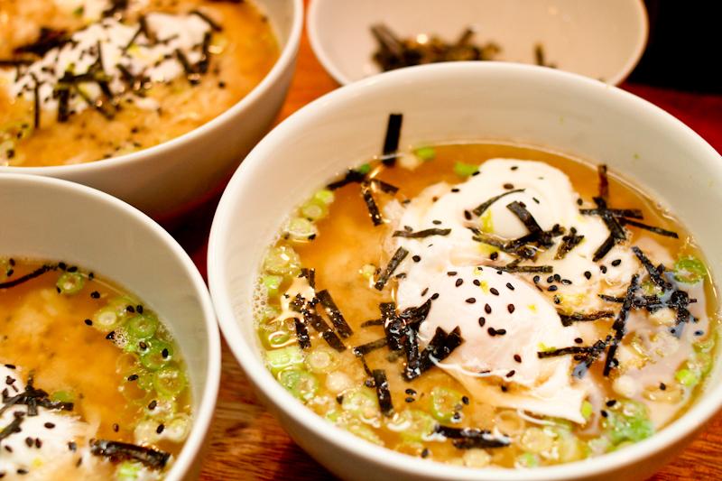 Miso tahini soup