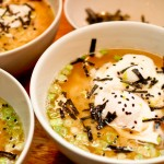Miso Tahini Soup With Poached Egg