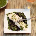 Cod, Beluga Lentils & Salsa Verde
