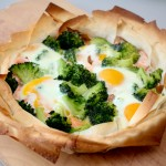 Phyllo Pie With Salmon & Broccoli
