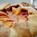 Rustic Peach Tart With Marzipan