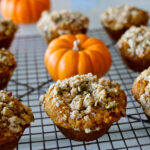 Pumpkin Muffins With Pepita Topping